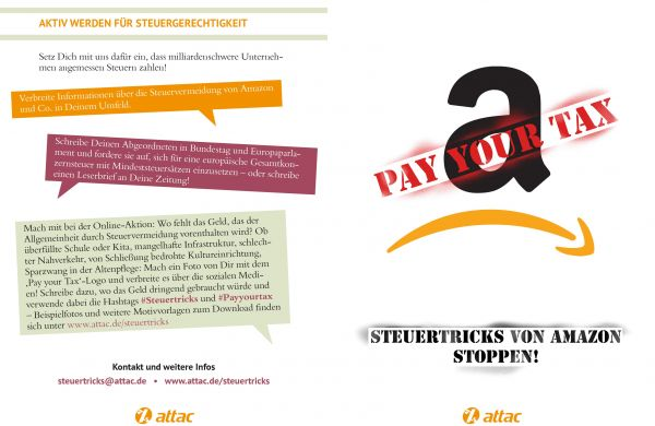 Flyer: Amazon - Pay your tax