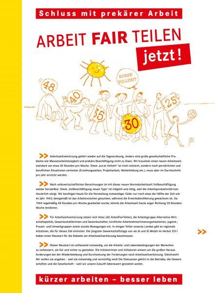 Faltblatt/Flyer: Kürzer arbeiten – besser leben