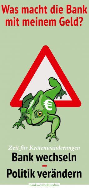 Faltblatt/Flyer: Zeit für Krötenwanderungen