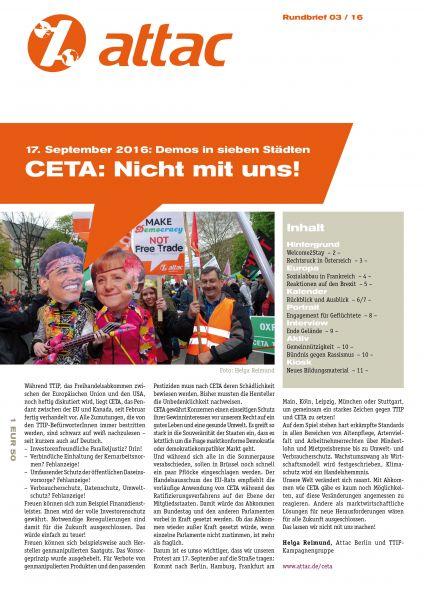 Rundbrief 2016/03 - CETA: Nicht mit uns!