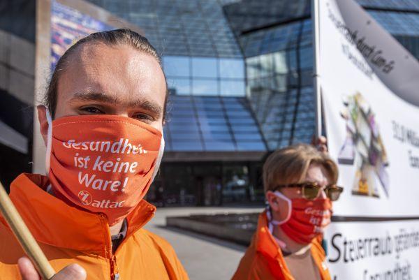 """Community-Maske """"Gesundheit ist keine Ware"""""""