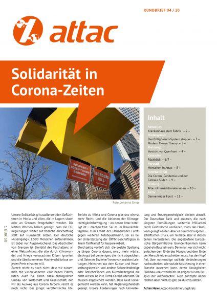 Rundbrief 2020/04: Solidarität in Corona-Zeiten