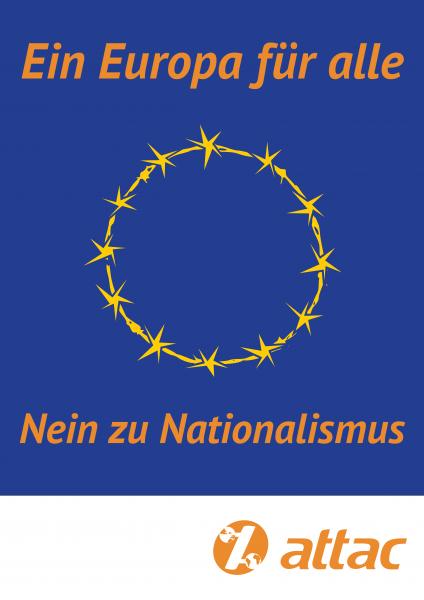 Plakat, A2: Europa für Alle – Nationalismus