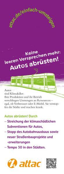"""Bahnhänger """"Öffis stärken, Autos abrüsten"""""""