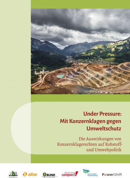 Broschüre: Under Pressure – Konzernklagen...