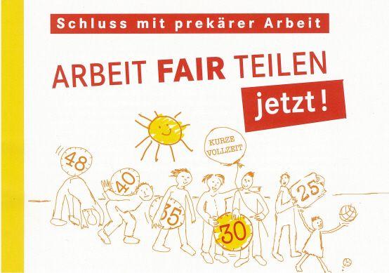 Faltblatt: Kürzer arbeiten - besser leben