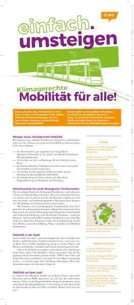 """Faltblatt/Flyer """"einfach.umsteigen"""" – Verkehrswende"""