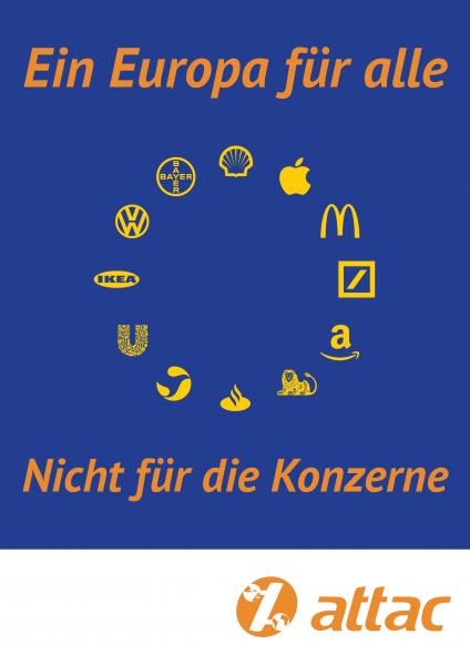 Plakat, A2: Europa für Alle – Konzerne