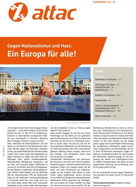 Rundbrief 2019/01: Ein Europa für alle!