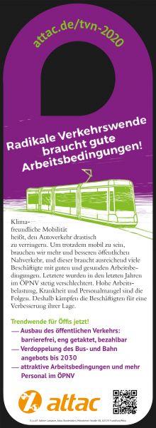 "50 x Bahnhänger ""Verkehrswende / TVN 2020"""