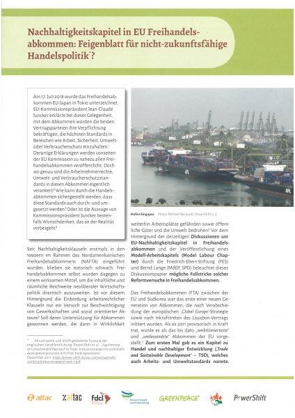 Infopapier: Nachhaltigkeit in Freihandelsabkommen?!