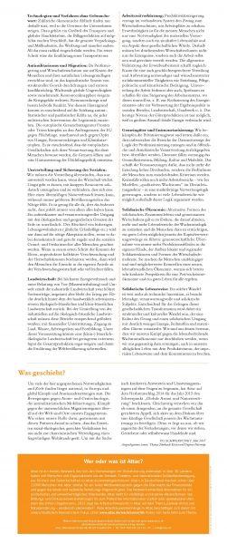 Faltblatt/Flyer: Abschied vom Wachstumszwang (2018)