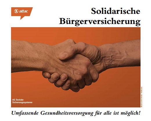 Faltblatt/Flyer: Solidarische Bürgerversicherung