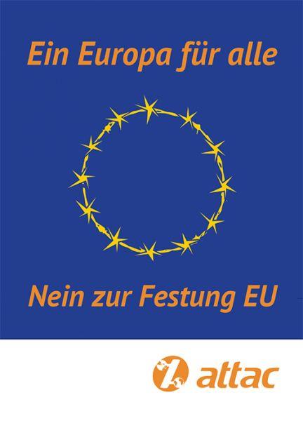 Aufkleber: Europa für Alle – Nein zur Festung EU