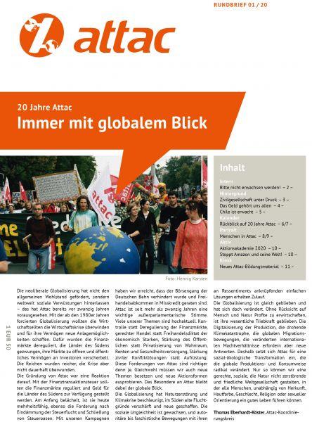 Rundbrief 2020/01: Immer mit globalem Blick – 20 Jahre Attac