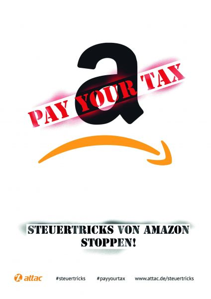 Plakat A3: Amazon - Pay your tax