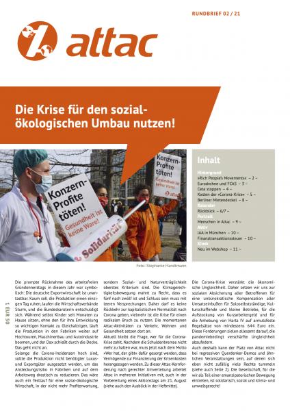 Rundbrief 2021/02: Die Krise für den sozial-ökologischen Umbau nutzen!