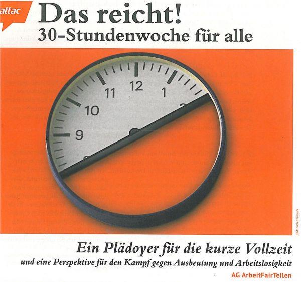 Flyer: Das reicht! 30-Stunden Woche