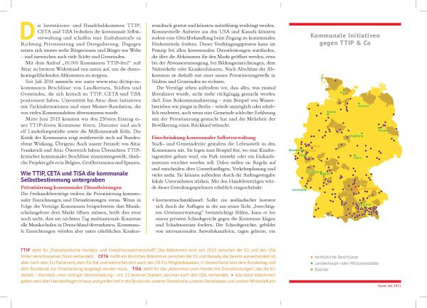 Faltblatt/Flyer: 10.000 Kommunen TTIP-frei
