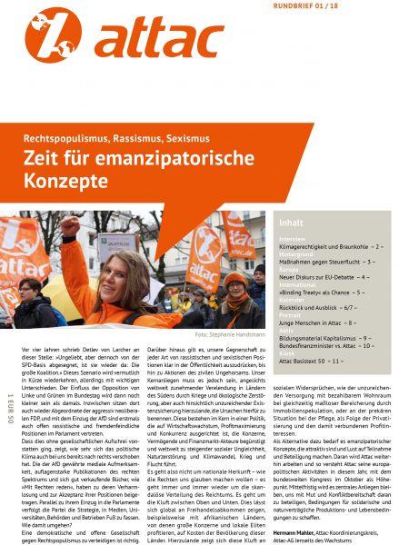 Rundbrief 2018/01: Zeit für emanzipatorische Konzepte