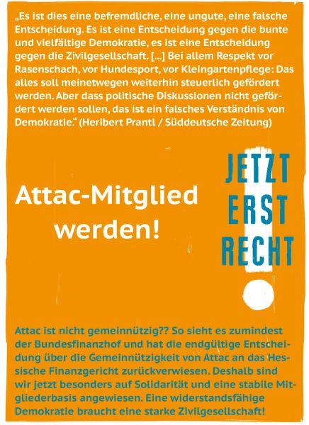 Postkarte: Jetzt erst recht: Attac-Mitglied werden!