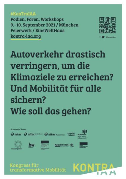 "Plakat (grün) zum Kongress ""KonTraIAA"", DinA3"