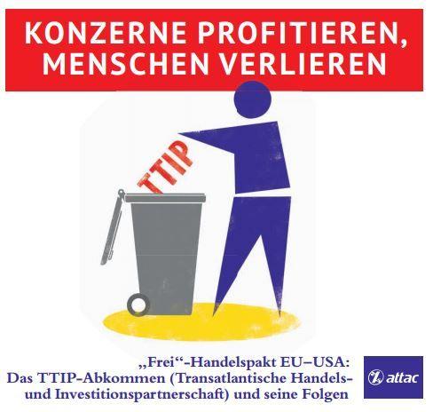 Faltblatt/Flyer: TTIP in die Tonne