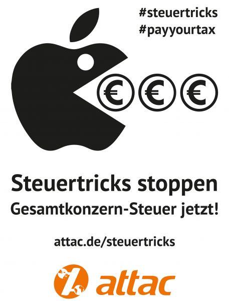 Plakat: Steuertrickser Apple