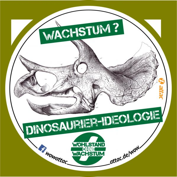 Aufkleber: Dinosaurierideologie Wachstum