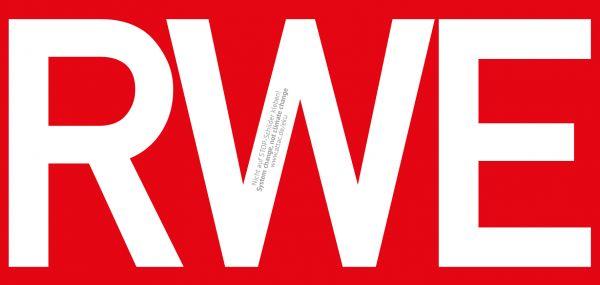 Aufkleber: RWE, rot, groß