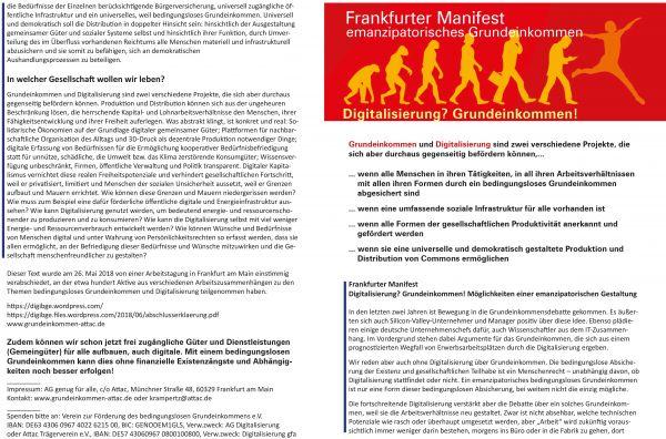 Manifest: Digitalisierung? Grundeinkommen!, 4 S.