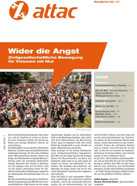 Rundbrief 2017/04: Wider die Angst
