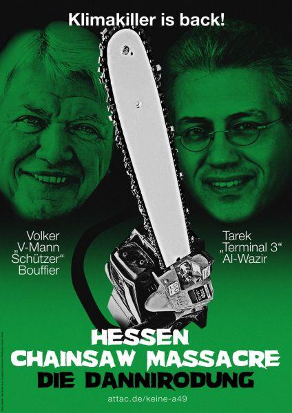 Aufkleber: Hessen Chainsaw Massacre / Die Dannirodung