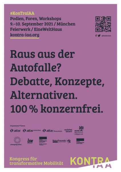 "Plakat (rot) zum Kongress ""KonTraIAA"", DinA3"