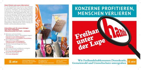Flyer: Freihandel unter der Lupe