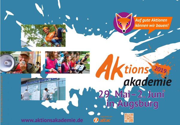 Flyer: Aktionsakademie 2019