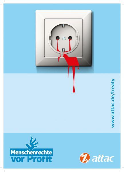 Menschenrechte vor Profit: Plakat, A2 (Binding Treaty)