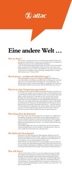 Faltblatt/Flyer: Attac-Selbstdarstellung