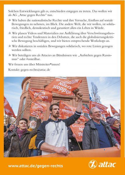 """Flyer """"AG Attac-gegen-rechts"""""""