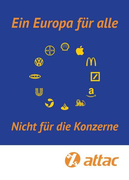 Aufkleber: Europa für Alle – Konzerne