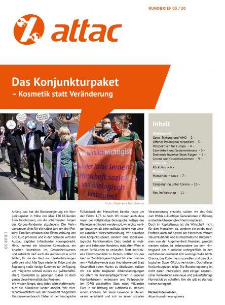 Rundbrief 2020/03: Das Konjunkturpaket – Kosmetik statt Veränderung