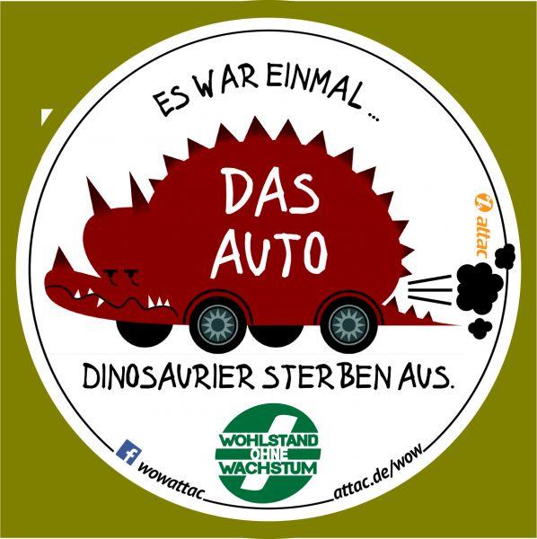 Aufkleber: Autosaurus - stirbt aus!