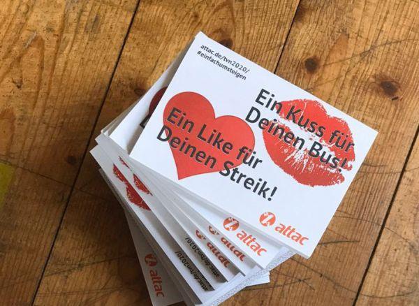 """50 x Haftnotiz """"Ein Like für Deinen Streik"""""""