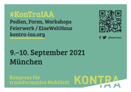 """Flyer zum Kongress """"KonTraIAA"""", DinA6"""